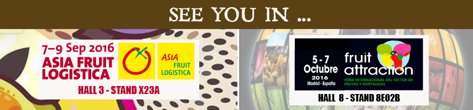 See you in... Asia Fruit Logistica and Fruit Attraction